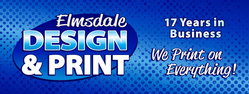 Elmsdale Design & Print: We print on everything from magnets and wide format posters to t-shirts, business cards and more.