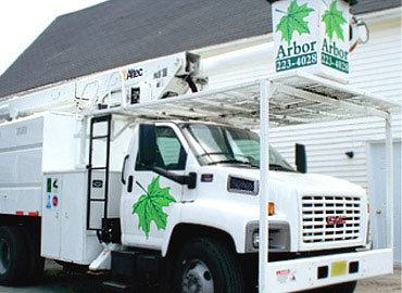 Arbor Plant Health Care bucket truck graphics. Vehicle Graphics, Printed Decals, Cut Decals, Decals, Vinyl Decals, Window Vinyl, Window Graphics, License Plates, Vehicles Signs, Trailer Graphics, Boat Registration Numbers, Door Magnets, Truck Graphics, Fleet Graphics, Window Cling, Truck Box Signs