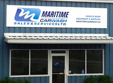 Exterior sign for Maritime Car Wash. Aluminum Signs, Metal Signs, Corrugated Plastic Signs, Election Signs, Lawn Signs, Job Site Caution Signs, Magnetic Signs