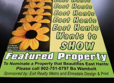 Custom corex signs with full color decals for East Hants Wants to Show. Plastic Signs, Lexan Signs, Clear Signs, Window Graphics, Event Signs, Directional Signs, Outdoor Signs, Lit Signs, Electric Signs, Backlit Signs, Glass Decorations, Frosted Privacy Products, Warning Labels, Construction Signs
