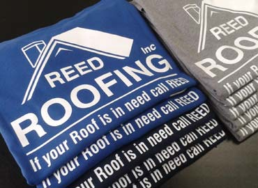 Reed Roofing Tshirts, Tee Shirts, T shirts, T-Shirts, Heat Press T Shirts, Heat Press T-Shirts, Printed Shirts, Photo Quality Shirt Designs, Embroidery, Silk Screen